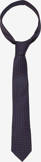 SEIDENSTICKER Cravate 'Schwarze Rose' en bleu foncé / bordeaux / blanc, Vue avec produit