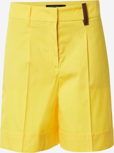 Pantaloni cu dungă Marc Cain pe galben, Vizualizare produs