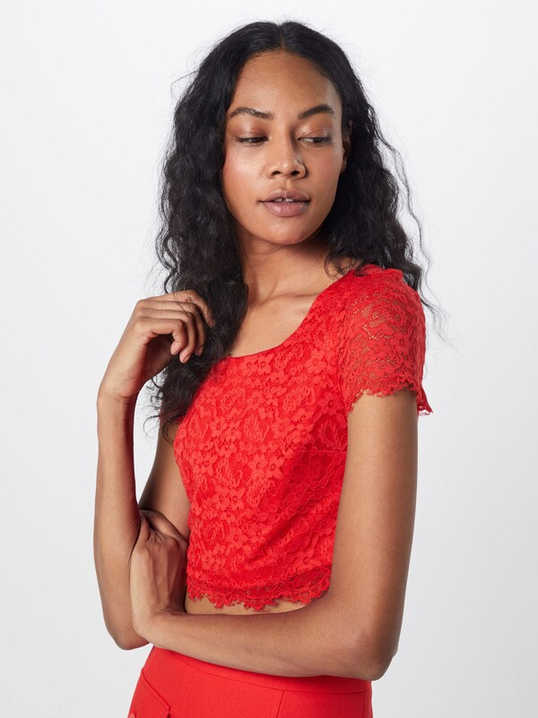 GUESS Shirt 'PANDORA TOP' in rot rot rot  Bequem und günstig f7f139