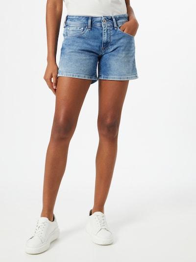 Pepe Jeans Jean 'Siouxie' en bleu denim, Vue avec modèle