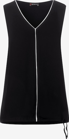 STREET ONE Top 'Ayla' in de kleur Zwart / Wit, Productweergave