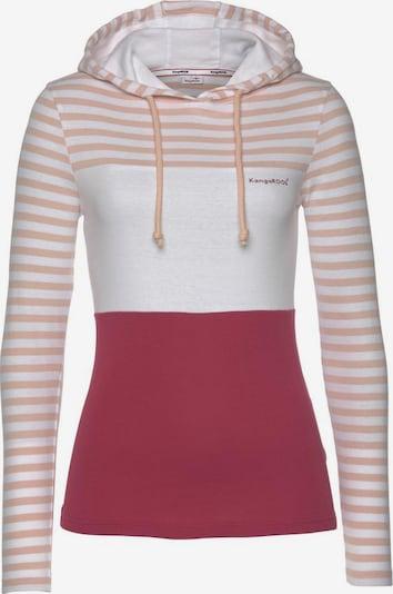 KangaROOS Shirt in himbeer / puder / weißmeliert, Produktansicht