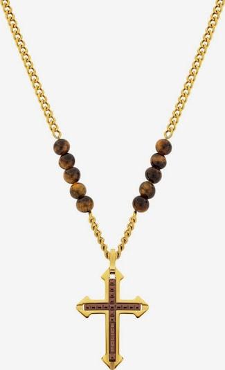 POLICE Kette in braun / gold, Produktansicht