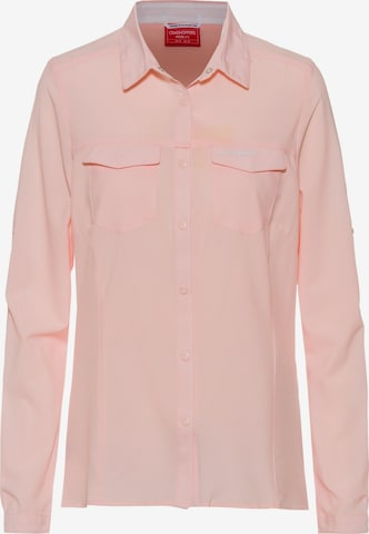 CRAGHOPPERS Funktionsbluse 'NosiLife Pro' in Pink