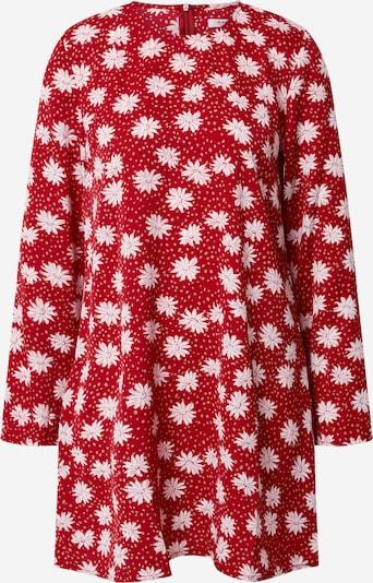 GLAMOROUS Obleka | rdeča / bela barva, Prikaz izdelka