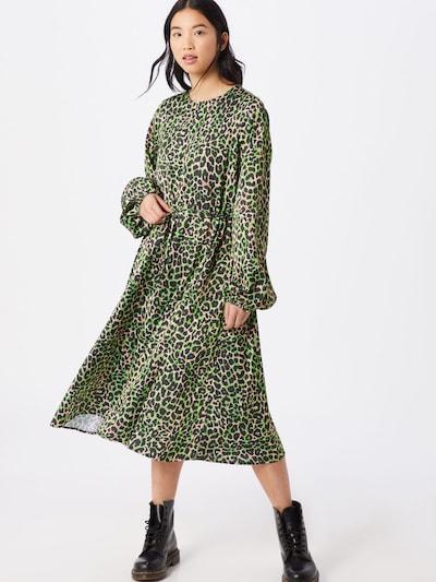Crās Kleid  'Lanicras' in grün / schwarz, Modelansicht