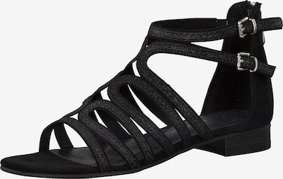 MARCO TOZZI Strap sandal in Black / Silver, Item view