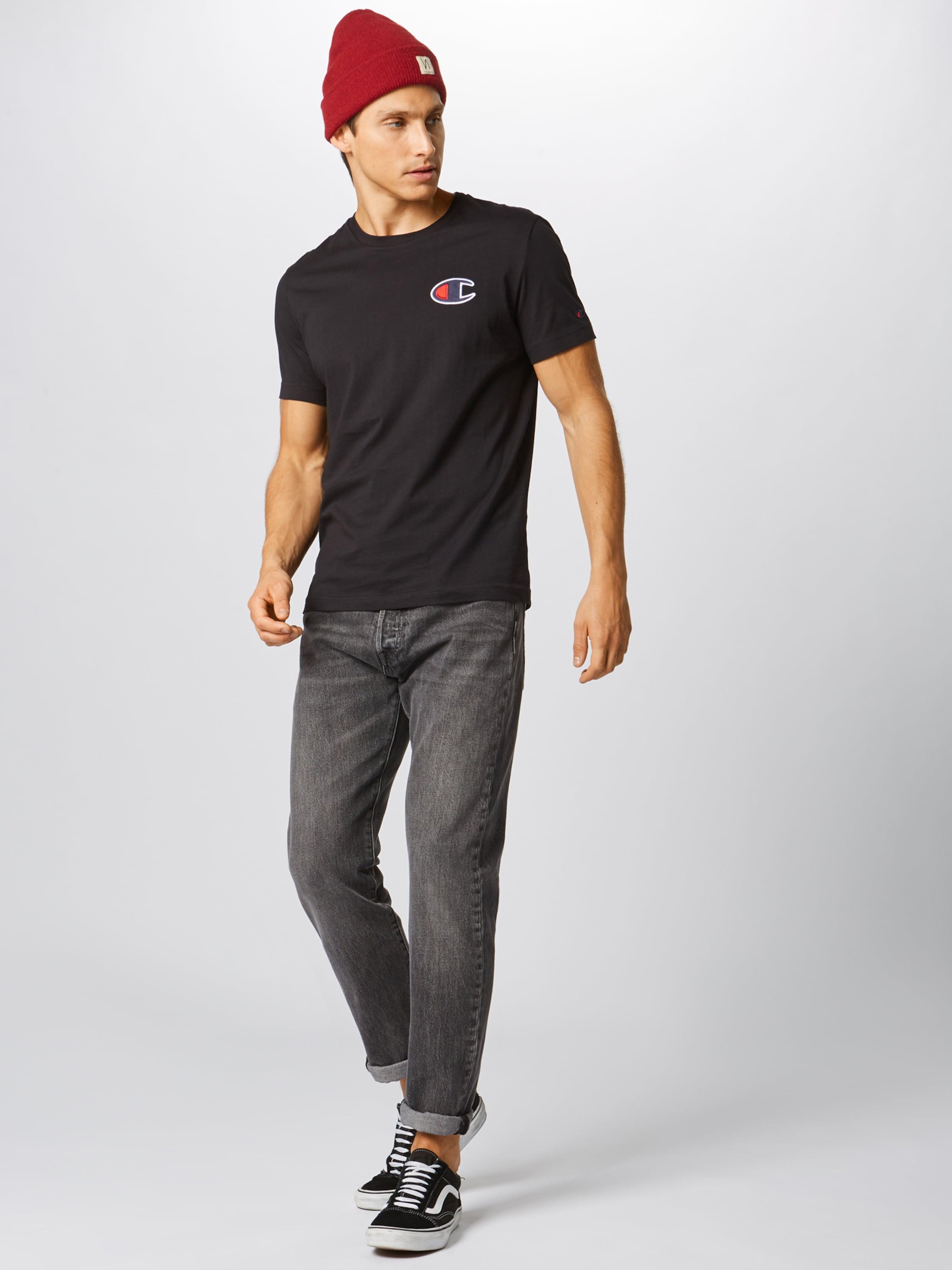 T 'crewneck' Champion Authentic En Noir shirt Athletic Apparel OZTwXikPu