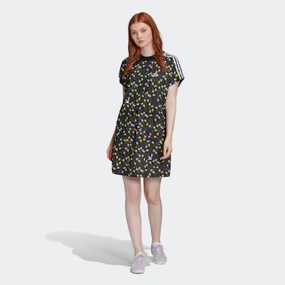 ADIDAS ORIGINALS T-Shirt Kleid in gelb / dunkelgrün / altrosa / schwarz / weiß, Modelansicht