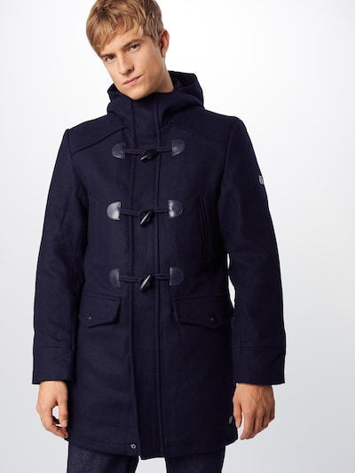 INDICODE JEANS Dufflecoat 'Liam Solid' in navy, Modelansicht