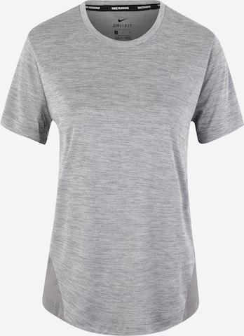 NIKE T-Shirt 'Miler' in Grau