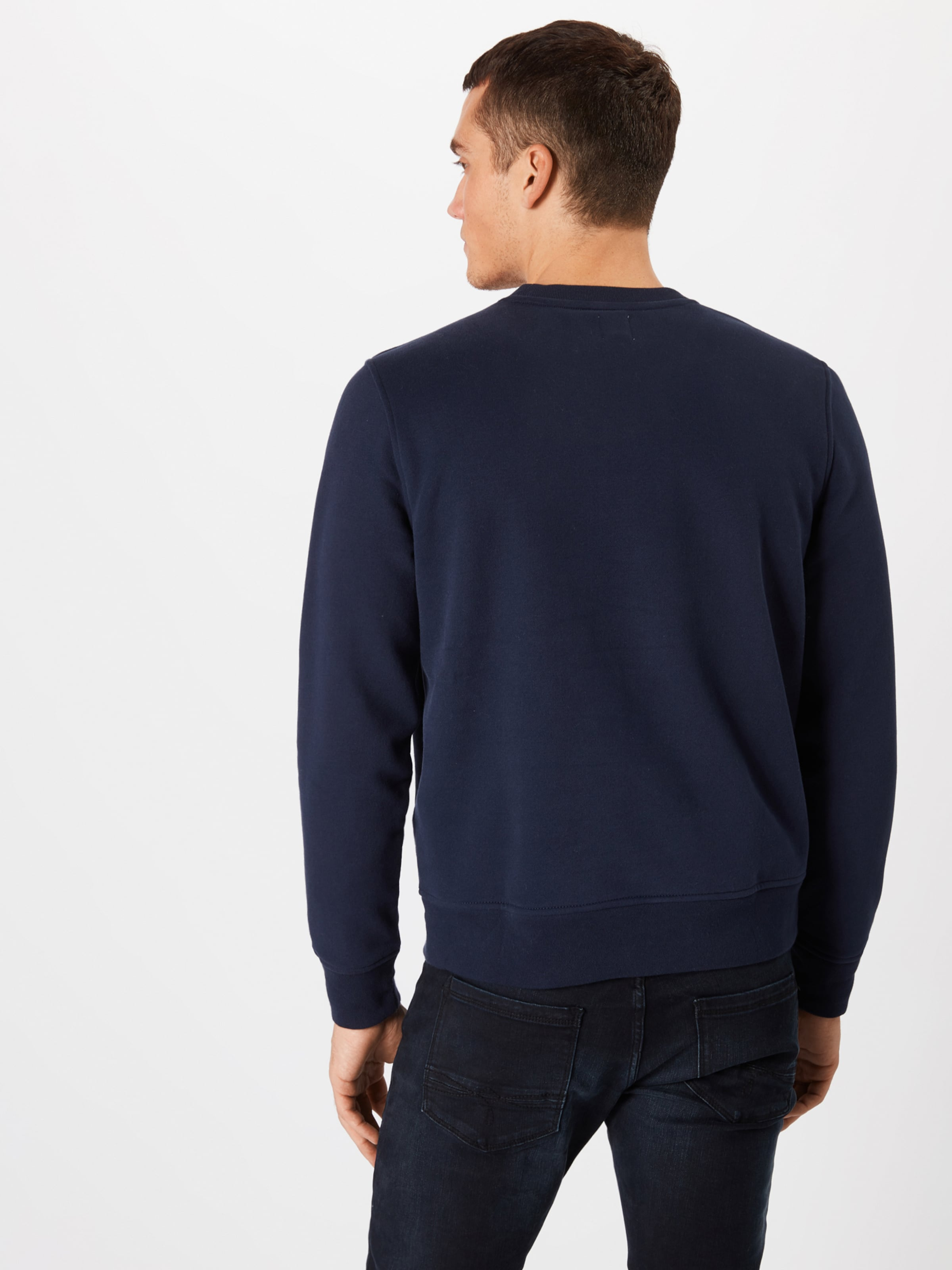 Fleece Marine Bleu 'sueded Gap Crew' shirt En Sweat wZuTPkXOi