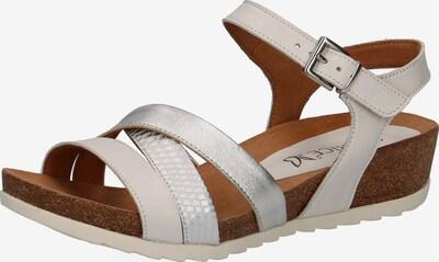 CAPRICE Sandaletten in braun / silber / weiß, Produktansicht