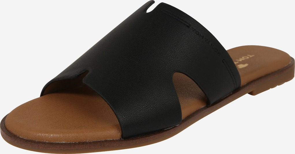 TOM TAILOR Damen - Slipper 'Pantolette' in schwarz, Produktansicht