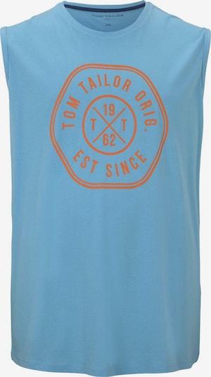 TOM TAILOR Men Plus Tanktop in hellblau / orange, Produktansicht