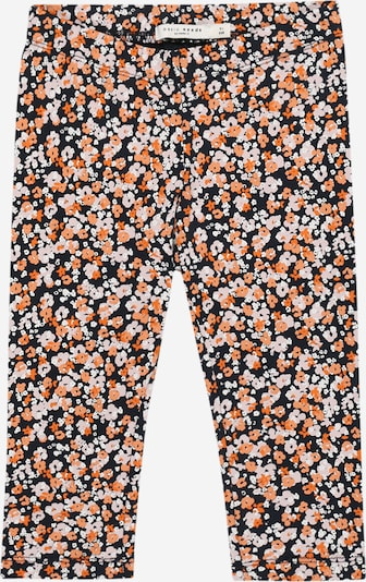 NAME IT Leggings 'Vivian' in de kleur Nachtblauw / Pastellila / Koraal / Donkeroranje / Wit, Productweergave