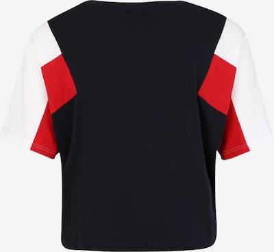Urban Classics T-shirt en rouge / noir / blanc: Vue de dos