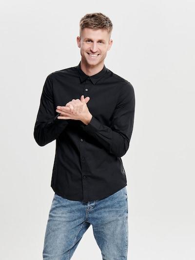 Only & Sons Hemd in schwarz, Modelansicht