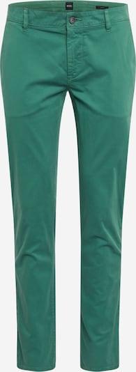 BOSS Chino kalhoty 'Schino-Slim D' - zelená: Pohled zepředu