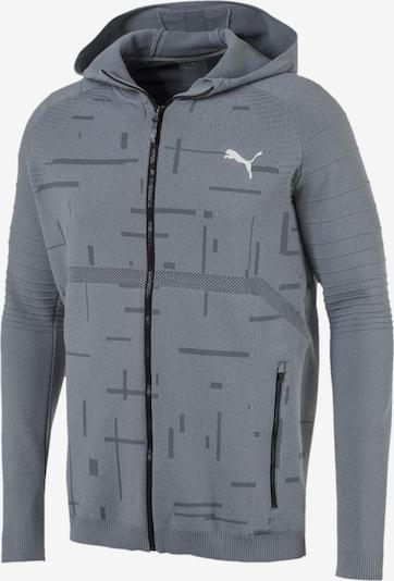 PUMA Sportsweatvest 'Energy evoKNIT' in de kleur Grijs / Donkergrijs, Productweergave