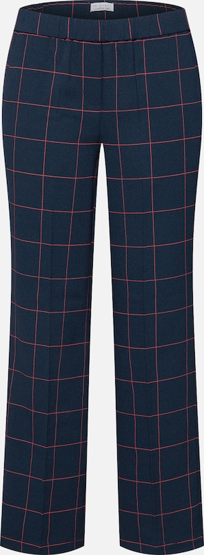 re.draft Hose in navy / rot: Frontalansicht