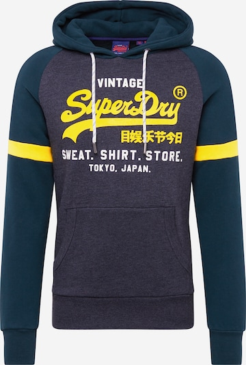 Superdry Sweatshirt 'VL SWEAT SHIRT STORE COLOURBLOCK HOOD' in de kleur Grijs, Productweergave