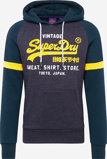 Superdry Sweatshirt 'VL SWEAT SHIRT STORE COLOURBLOCK HOOD' in de kleur Grijs, Productweergave