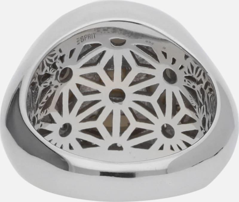 ESPRIT Damen Fingerring 925 Silber Silber/Weiss Ballroom ESRG91707A