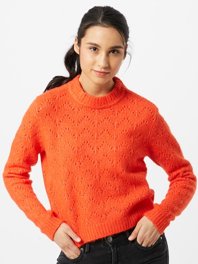 PIECES Pullover 'Regina' in orange, Modelansicht