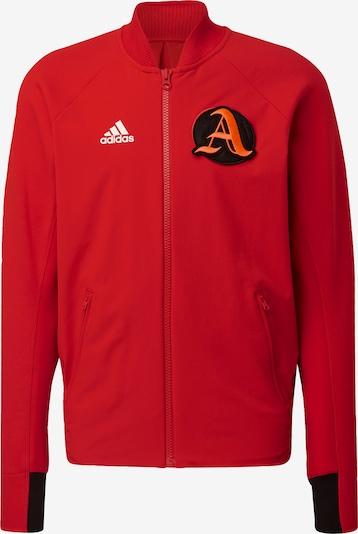 ADIDAS PERFORMANCE Sportsweatjacke in orange / rot / schwarz / weiß, Produktansicht