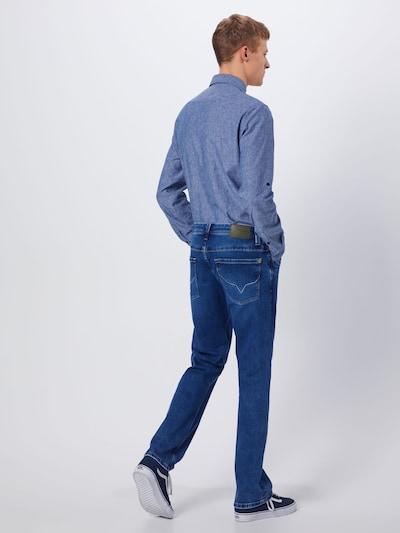 Pepe Jeans Jeans in blue denim: Rückansicht