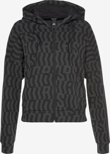 ADIDAS PERFORMANCE Kapuzensweatjacke 'MHE ALL OVER PRINT ' in dunkelgrau / schwarz, Produktansicht