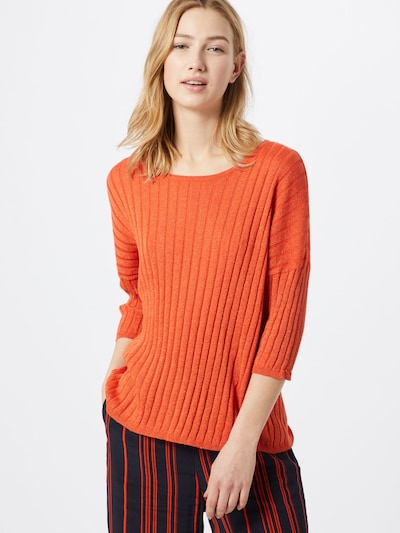 SOAKED IN LUXURY Pullover 'SLMonday Jumper 3/4' in orange: Frontalansicht