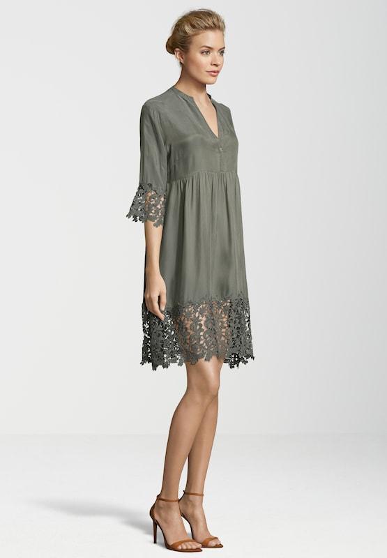 GUSTAV Kleid mit breiter Spitzenbordüre