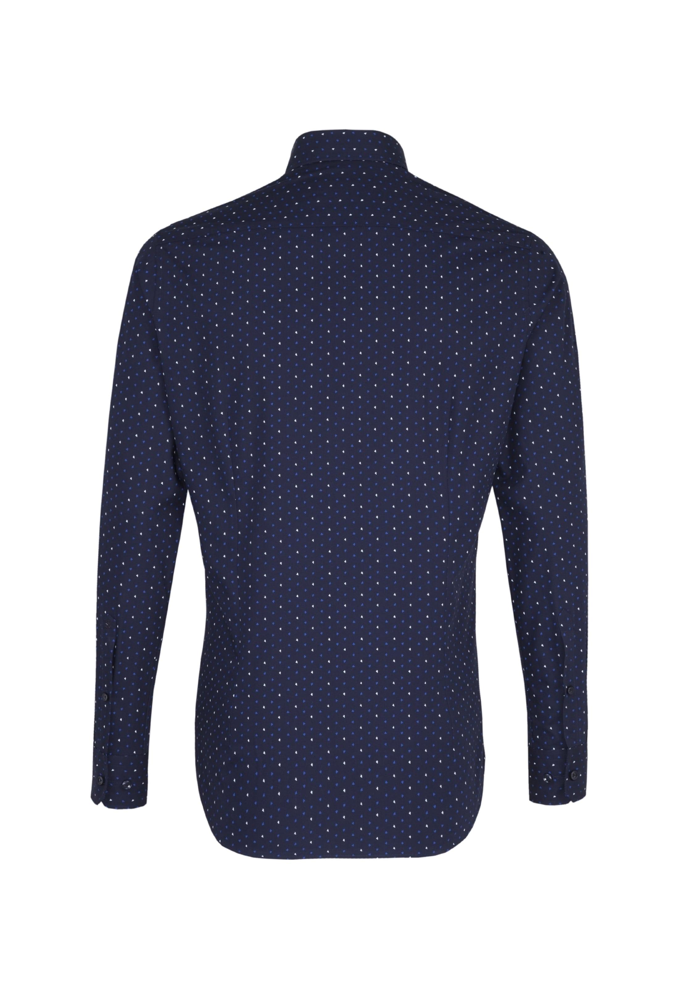 BlauNavy Weiß Hemd Seidensticker In wn0OkP8