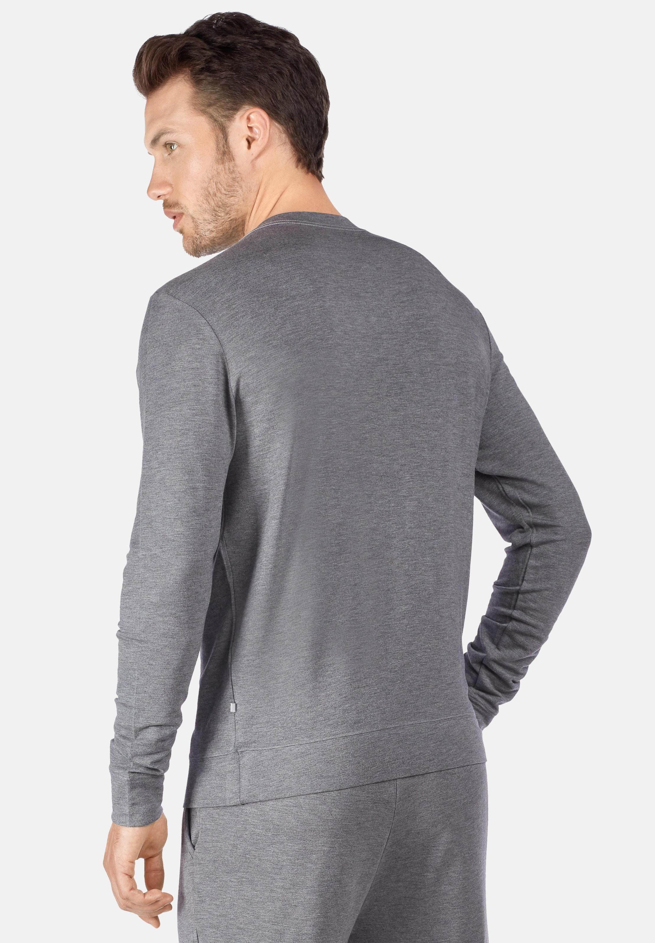 Hours Im Sweatshirt Huber Lounge Lässigen Grau In Look 24 Ygfvby76