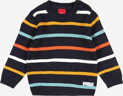 s.Oliver Pullover in türkis / dunkelblau / gelb / orange / weiß, Produktansicht