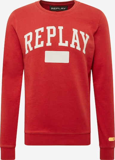 REPLAY Sweatshirt in rot / weiß, Produktansicht