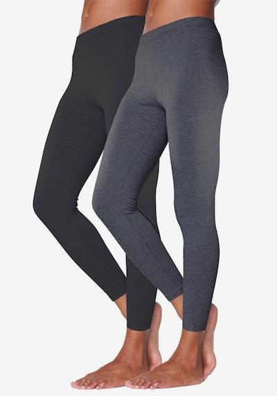 VIVANCE Leggings in anthrazit / schwarz, Modelansicht