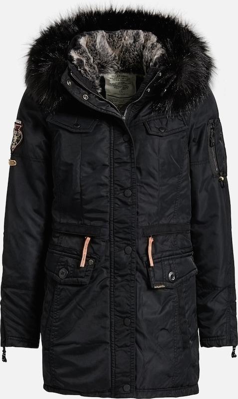 Khujo Mantel 'AGATA' in schwarz  Markenkleidung für Männer und Frauen