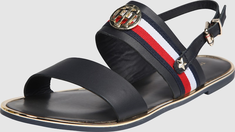 TOMMY HILFIGER Sandale 'CORPORATE RIBBON FLAT'