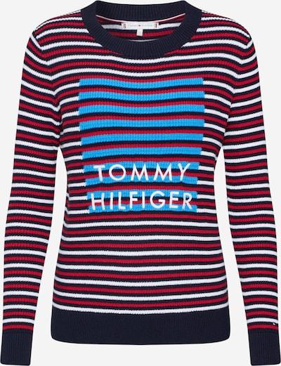 TOMMY HILFIGER Pullover  'Vivika Graphic C-Nk' in navy / rot / weiß, Produktansicht