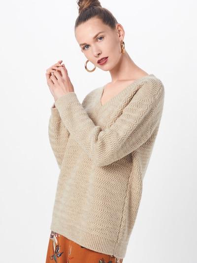basic apparel Pullover 'Eliza' in beige: Frontalansicht