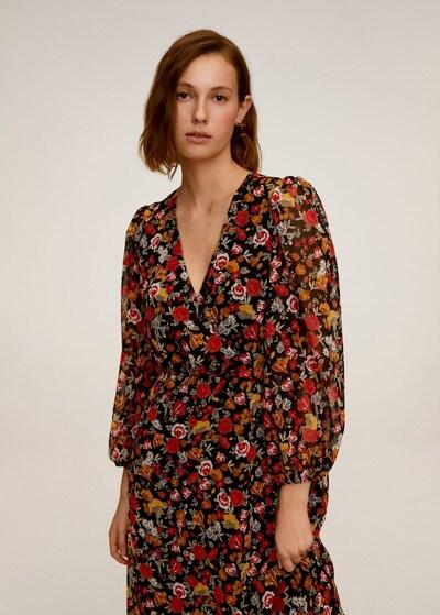 MANGO Kleid 'Winona2' in gelb / pastellgrün / orange / rot / schwarz, Modelansicht