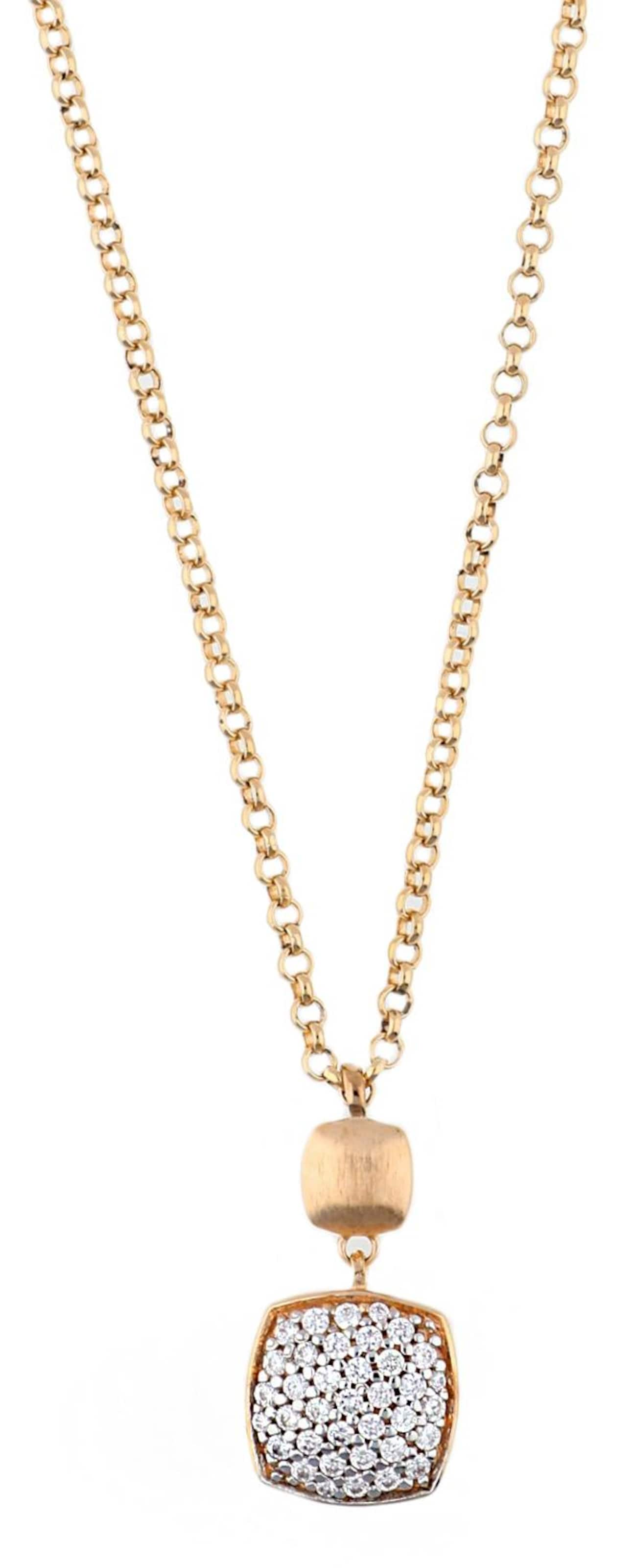 ESPRIT Halskette Antigone mit eckigem Zirkonia-Anhänger Abschlagen Günstig Kaufen 2018 0yze9H