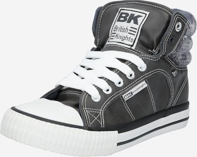 BRITISH KNIGHTS Baskets hautes en gris foncé / blanc, Vue avec produit