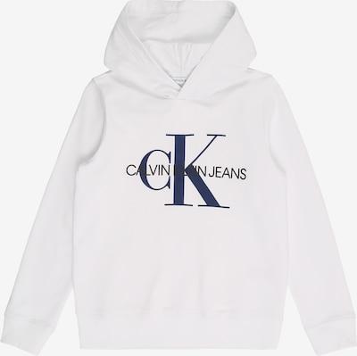 Calvin Klein Jeans Sweatshirt 'MONOGRAM' in weiß, Produktansicht