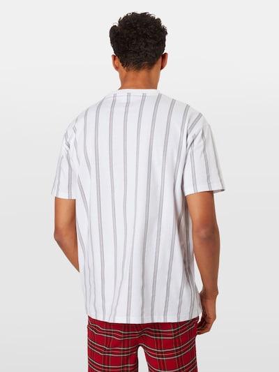 Urban Classics Shirt 'Heavy Oversized AOP Stripe' in schwarz / weiß: Rückansicht