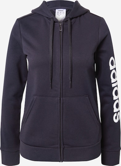 Sportinis džemperis 'Essentials Linear' iš ADIDAS PERFORMANCE , spalva - tamsiai mėlyna / balta, Prekių apžvalga