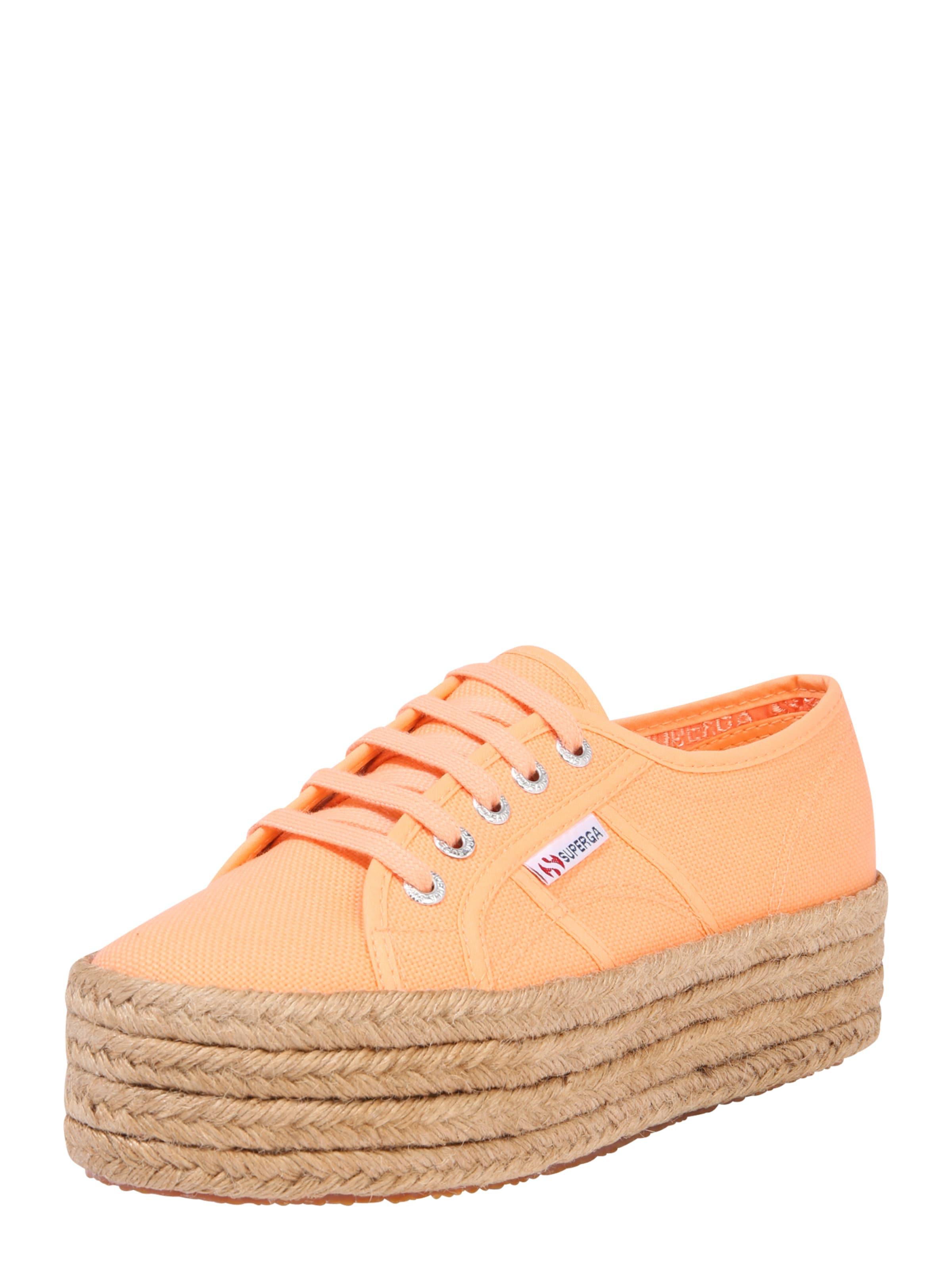 SUPERGA Rövid szárú edzőcipők '2790 - COTROPEW' barna / narancs színben